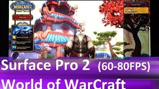 surface pro 2 gaming world of warcraft wow 80 fps