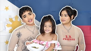 Cleo trying Filipino food .. Mukbang aswell