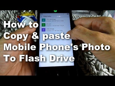 HOW TO USE OTG CABLE TRANSFER ANDROID Mobile Phone PHOTO VIDEO FILE TO FLASH DRIVE