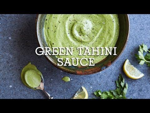 Green Tahini Sauce (Paleo, Gluten-Free, Vegan, Keto)