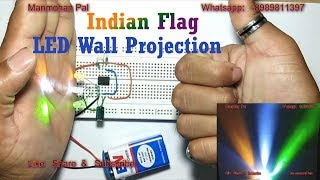 Blinking  LED wall Projection| Independence day LED Light| by Manmohan Pal