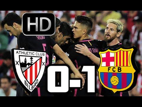 Athletic de Bilbao 0-1 Barcelona 2016  RESUMEN Y GOLES HD  LIGA SANTANDER  28-08-16