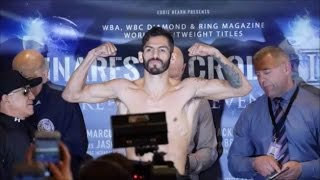 JORGE LINARES VS. ANTHONY CROLLA II OFFICIAL WEIGH-IN