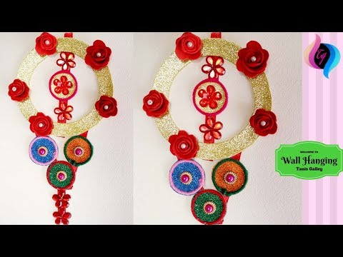 wall-hanging-ideas-with-bangles-and-paper---handmade-wall-hanging-crafts-for-living-room