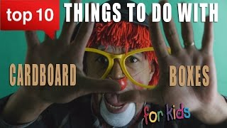 10 Things To Do With Cardboard  Box For Kids