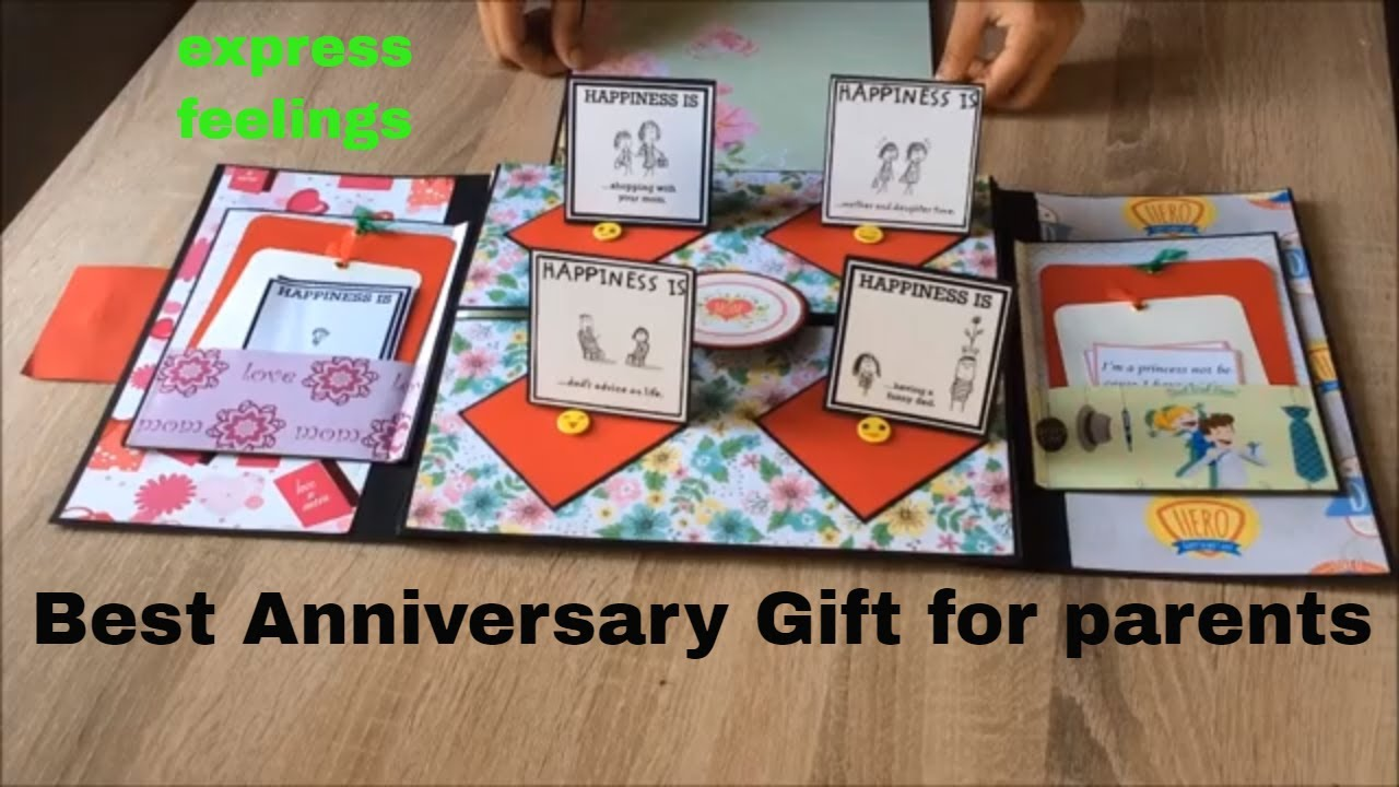Best Anniversary Gift Ideas For Parents 25th Anniversary Album For Parents Perfect Gift For Parents Youtube