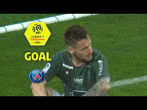 Goal Mathieu DEBUCHY (90'+2 csc) /AS Saint-Etienne - Paris Saint-Germain (1-1) (ASSE-PARIS)/2017-18