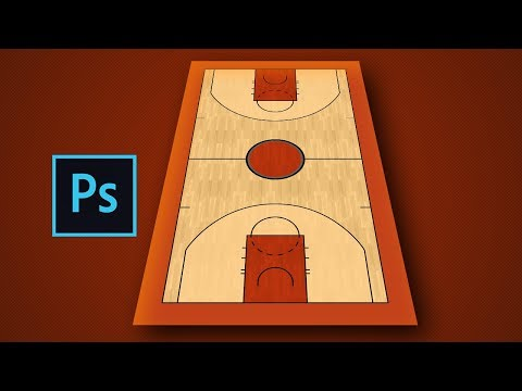 Making a NBA Basketball Court in Photoshop
