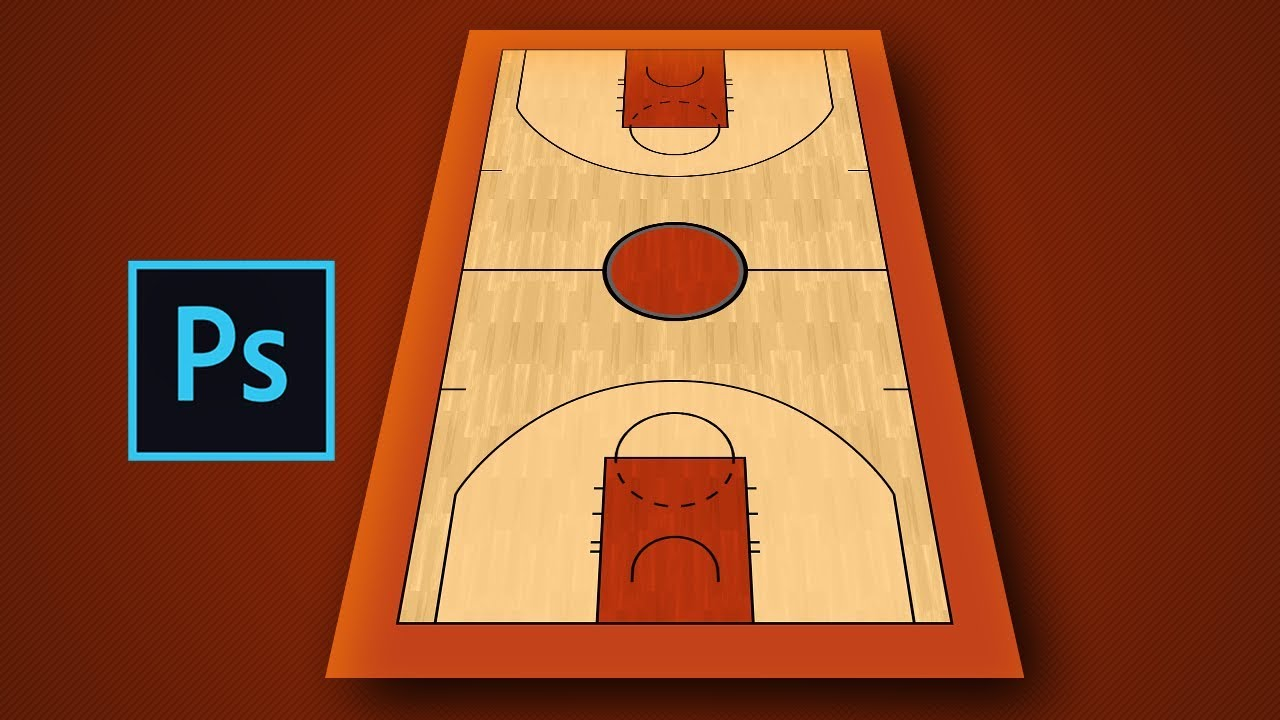 Making A Nba Basketball Court In Photoshop Youtube