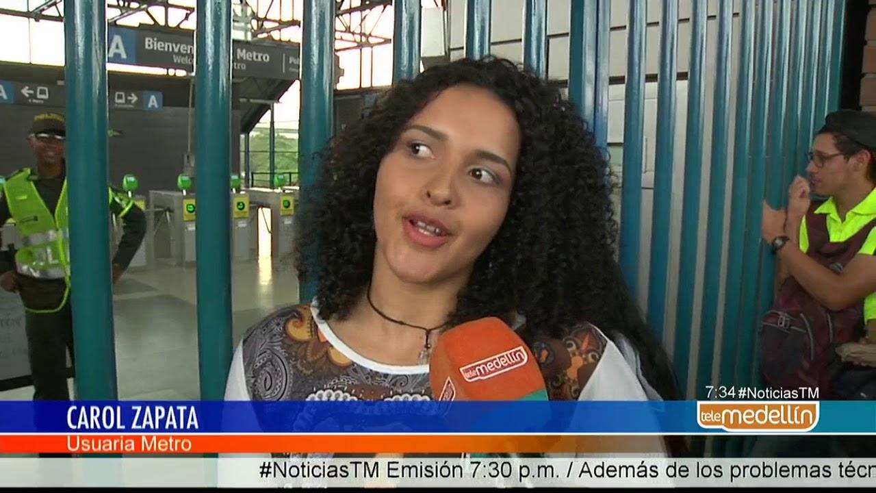Así está funcionando el Metro de Medellín [Noticias] - Telemedellín #1