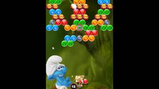 Smurfs Bubble Story Level 204 - NO BOOSTERS [⚠ AGGRESSIVE MONETIZATION ⚠]