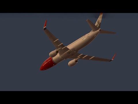 Infinite Flight Boeing B737 Norwegian airlines livery - Crosswind landing