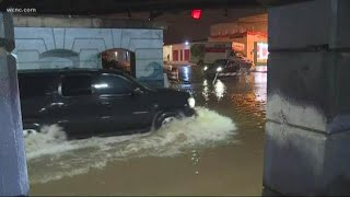 Heavy rain causing flooding and travel problems