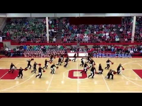"Ottawa Township High School Poms - ""The Middle"" - SENIOR NIGHT - February 26, 2016"