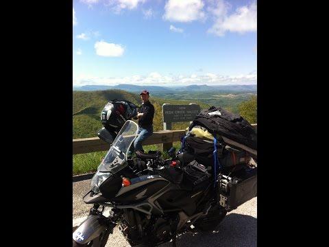 Skyline Blue ridge motorcycle adventure tour