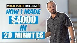 How I Made $4000 In 20 Minutes Wholesaling a House