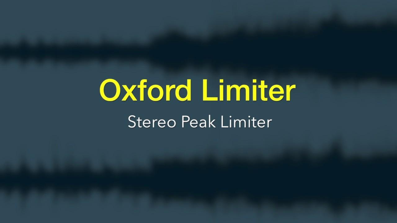 Sonnox | Oxford Limiter v3