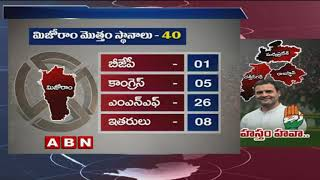 Election Results : Congress takes Chhattisgarh, Rajasthan and MP from BJP | ABN Telugu