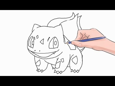 How To Draw The Pokemon Bulbasaur Easy Step By Step
