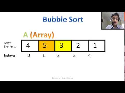 Bubble sort algorithm explanation with code and animation