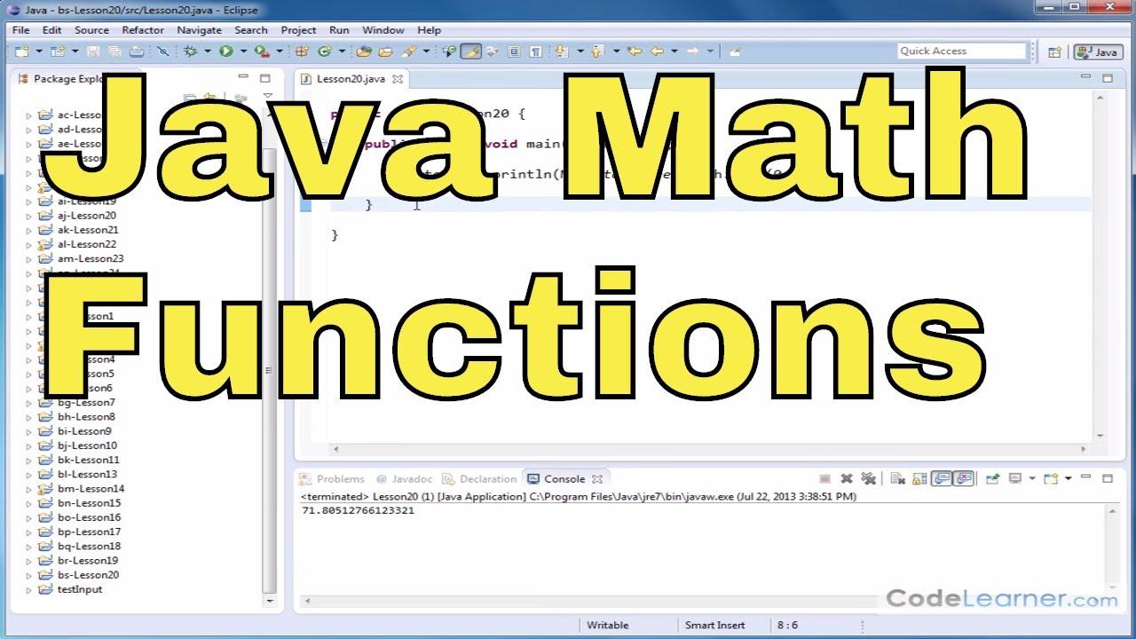 Java Programming - 20 - aSin, aCos, and aTan (Math Functions)