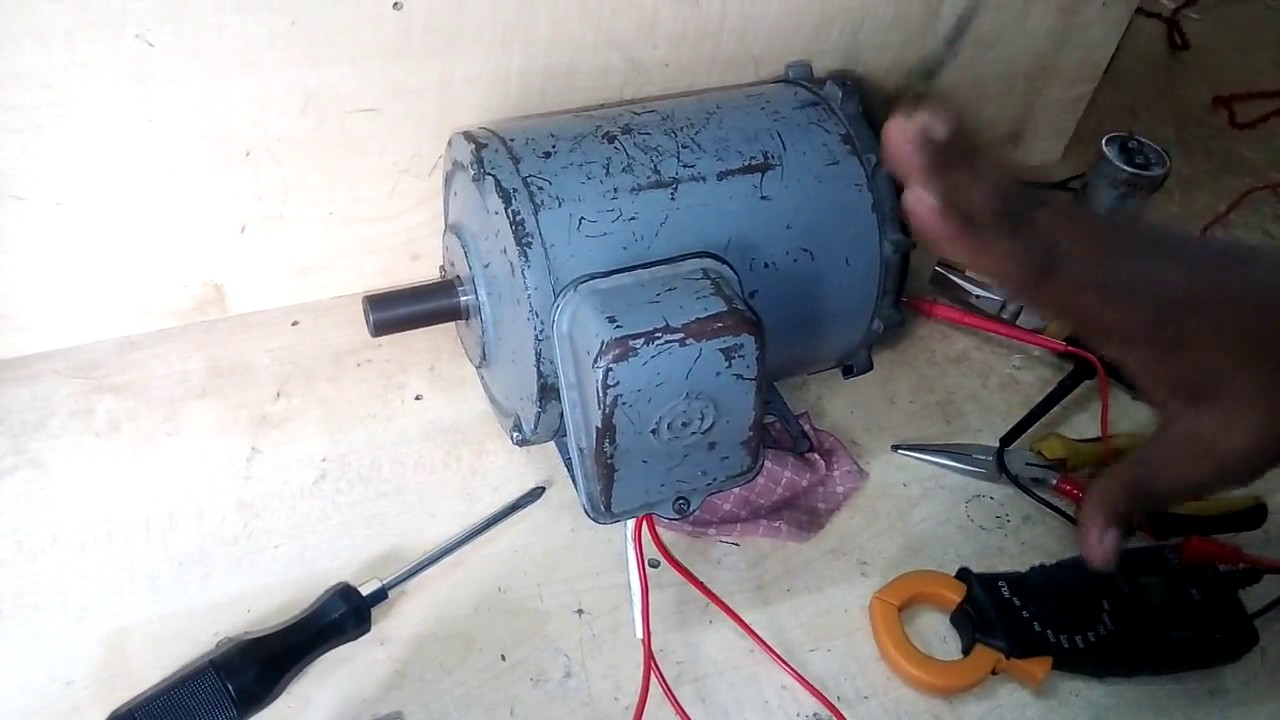 how test three phase motor by single phase supply. three phase motor ...