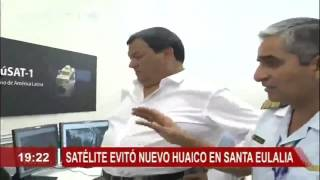 Satélite Peruano Perú-SAT-1 ayuda evitar caida de nuevo Huaico