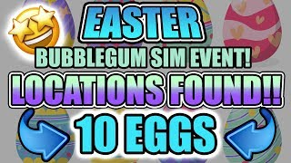 🥚 10 EGG LOCATIONS 🥚 Bubblegum Sim 💎 EGG HUNT Easter Event (Roblox)