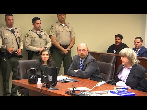 Calif. couple accused of holding 13 children hostage appears in court