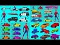 Aprender Colores Y Vehículos Nombre Con Spiderman L Carro Y Camión Compilación