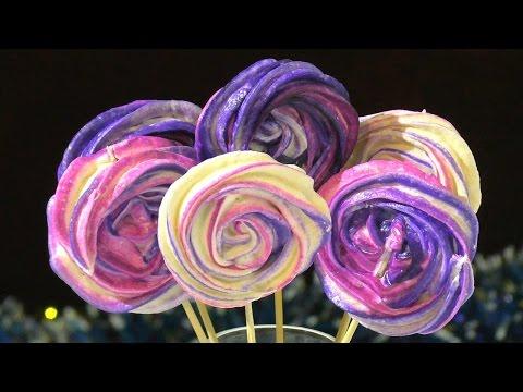 Цветное безе рецепт Как приготовить цветное БЕЗЕ  Color meringue recipe
