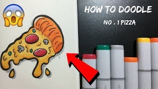 Doodle Friday: HOW TO DRAW A PIZZA | Copic Marker Illustration for Kids