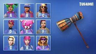 ADIVINATE THE SKIN OF FORTNITE BY THE PICO OF YOUR SET - PART #2 - DIFFERENT ? tusadivi