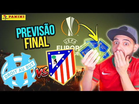 ATLÉTICO MADRID vs MARSELHA com CROMOS RUSSIA 2018! 🏆🔥 EUROPA LEAGUE FINAL