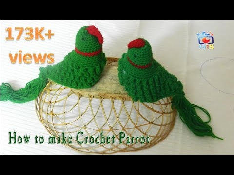 Diy How To Make Crochet Parrot Video Tutorial Youtube