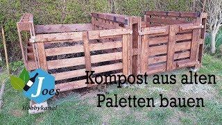 Kompost aus Paletten bauen - DIY