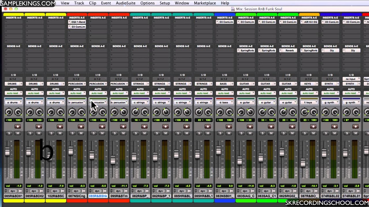 pro tools 10 dvds 5 lesson the mixer part 1 youtube. Black Bedroom Furniture Sets. Home Design Ideas