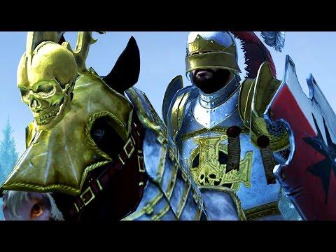 Cavalry Battle - The Empire VS Vampire Count - Massive Battle Total War Warhammer |