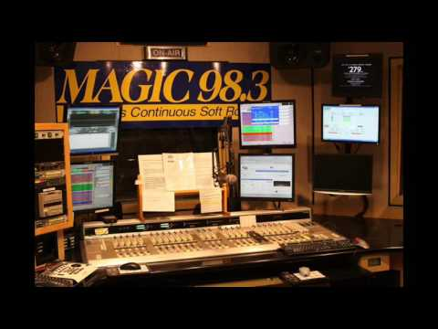 Magic 98.3 radio station with ticking CD player on air