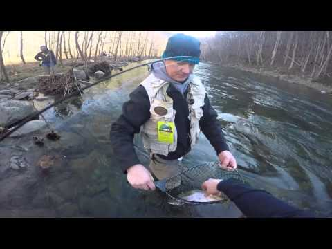 Trout fishin small streams in wv with a 1/4 ounce joe fly