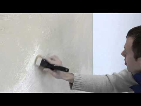 """Декоративный эффект """"Мятой кожи"""" на стене из шпаклевки Element"""