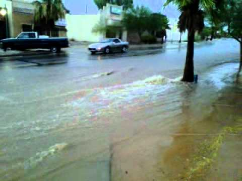 Monsoon Storm Flooding Lake Havasu City July 13 2012