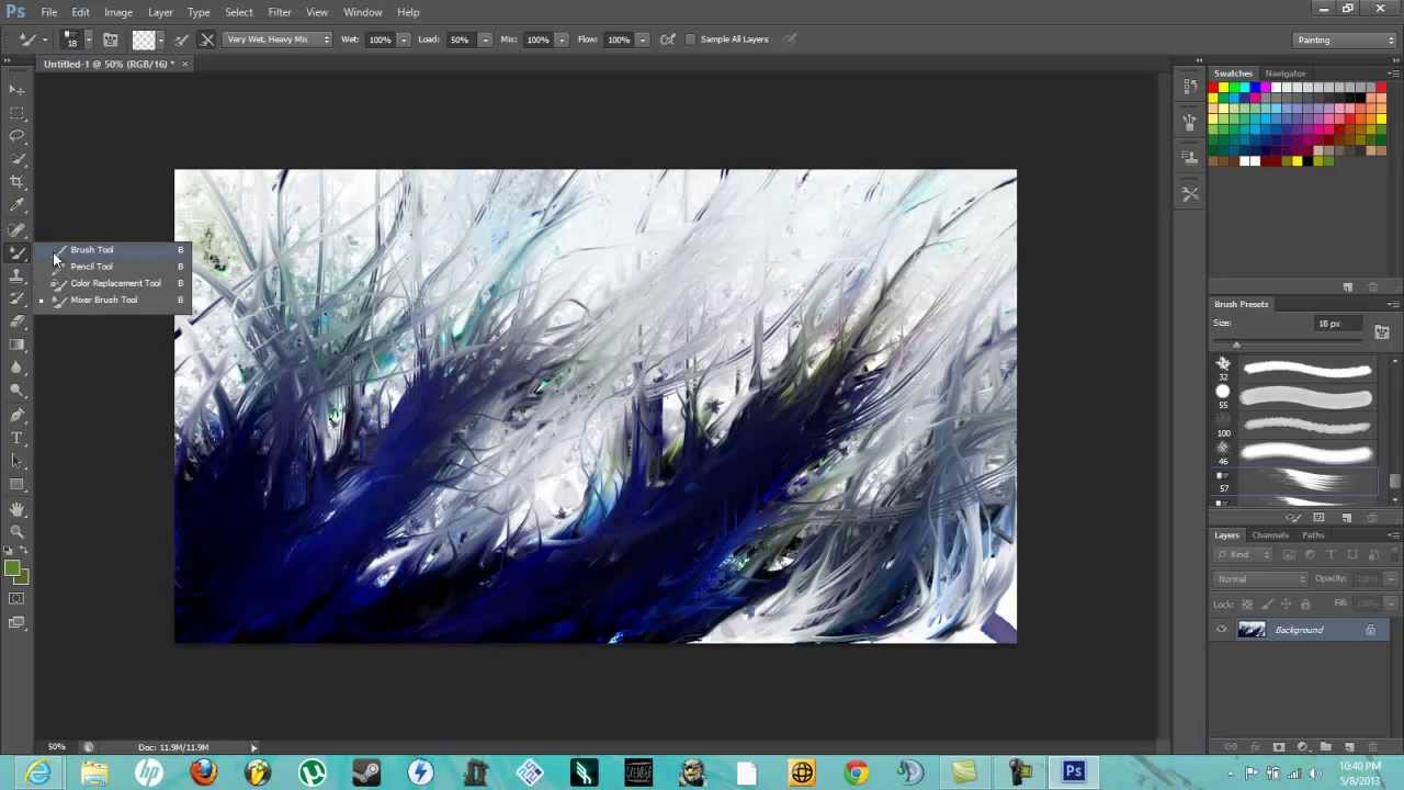 how to create an abstract painting in photoshop