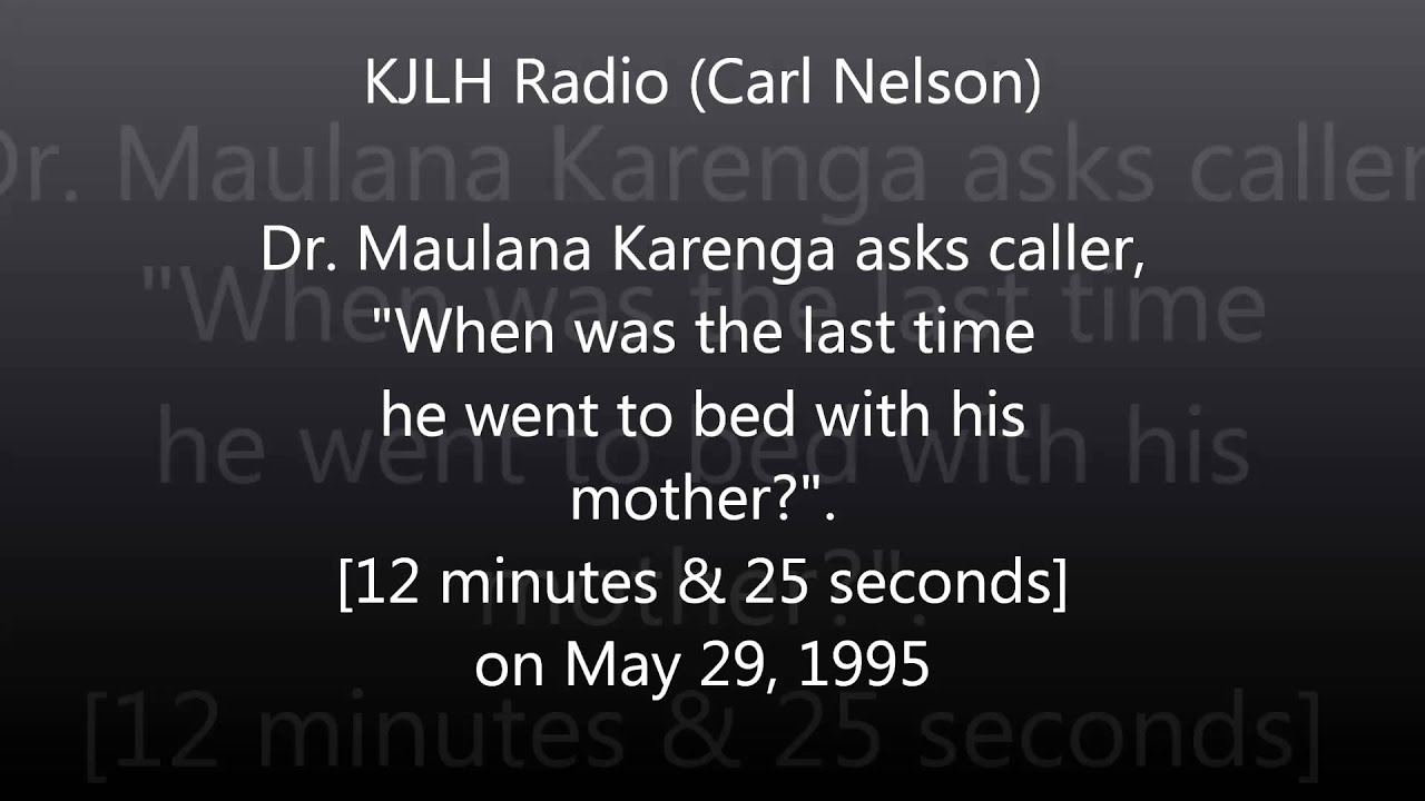 Dr. Maulana Karenga and Steve Cokely on KJLH Radio with Carl Nelson (May 29, 1995)