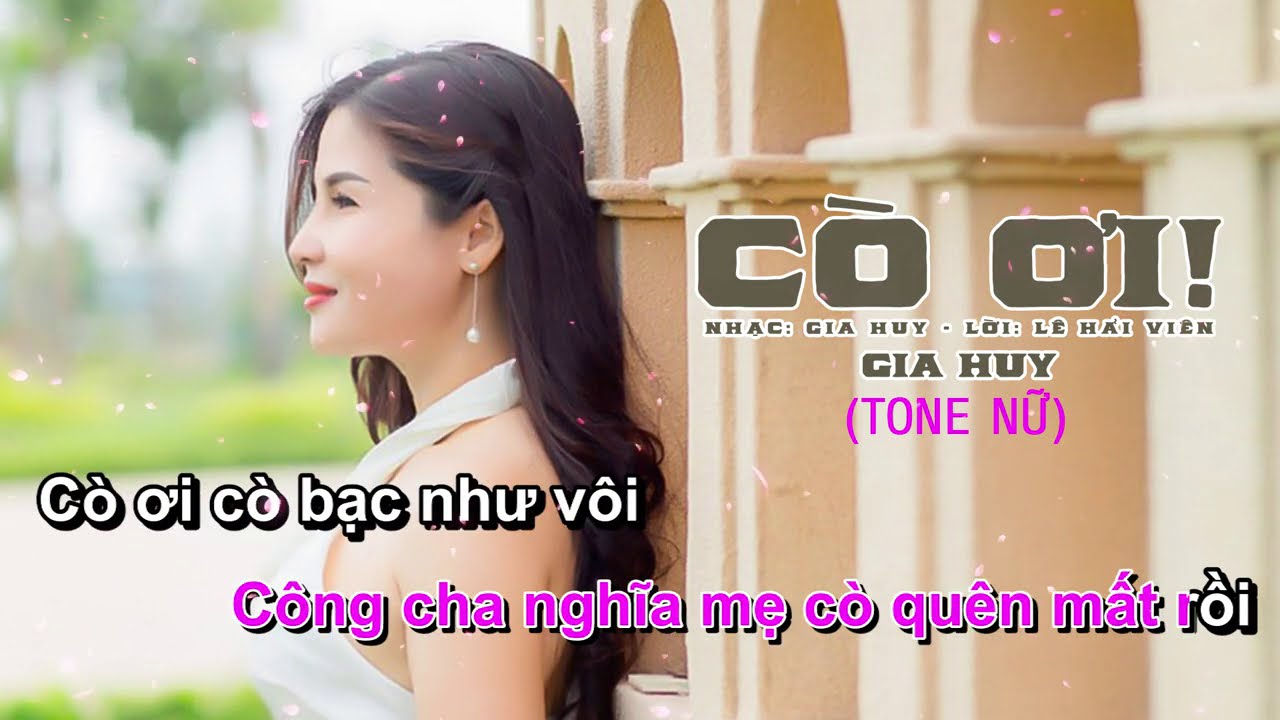 Cò ơi - Karaoke Tone Nữ | Gia Huy (Beat Chuẩn)