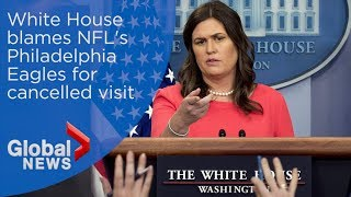 White House says NFL's Eagles changed their commitment at last minute thumbnail