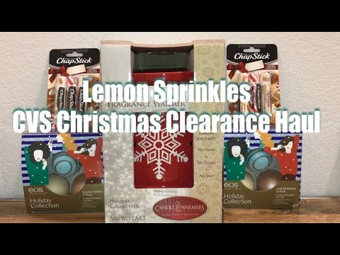 cvs christmas clearance haul candle fragrance warmer eos - Cvs Christmas Clearance