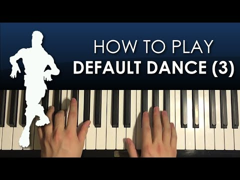 How To Play - FORTNITE - Default Dance Moves (Beat 3) (PIANO TUTORIAL LESSON)