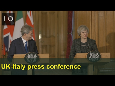 UK-Italy Prime Ministers press conference: February 2017