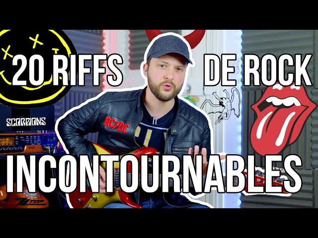 20 RIFFS DE ROCK INCONTOURNABLES - TUTO GUITARE